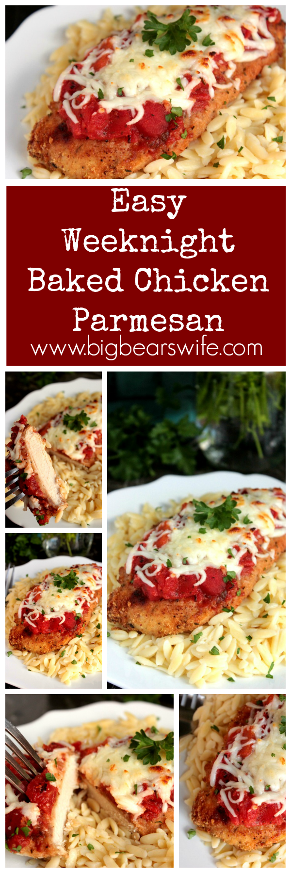 Easy Weeknight Baked Chicken Parmesan