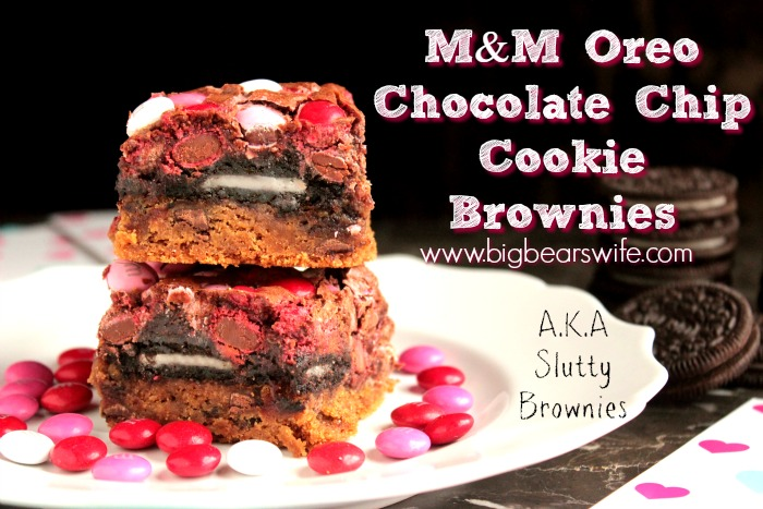M&M OREO Chocolate Chip Cookie Brownies