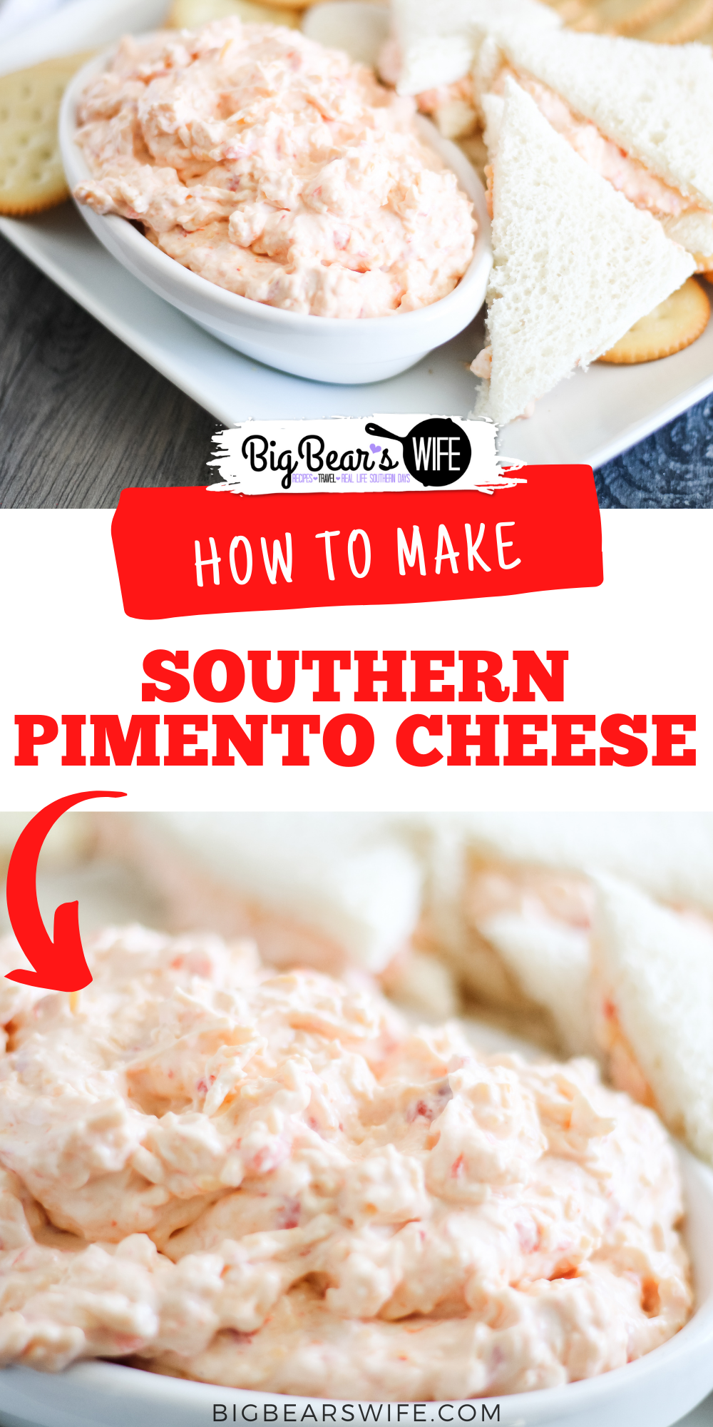 Homemade Southern Pimento Cheese is super easy to make at home! This recipe is a combination of a recipe from my grandmother's recipe box and my own twist. It's our favorite pimento cheese recipe!