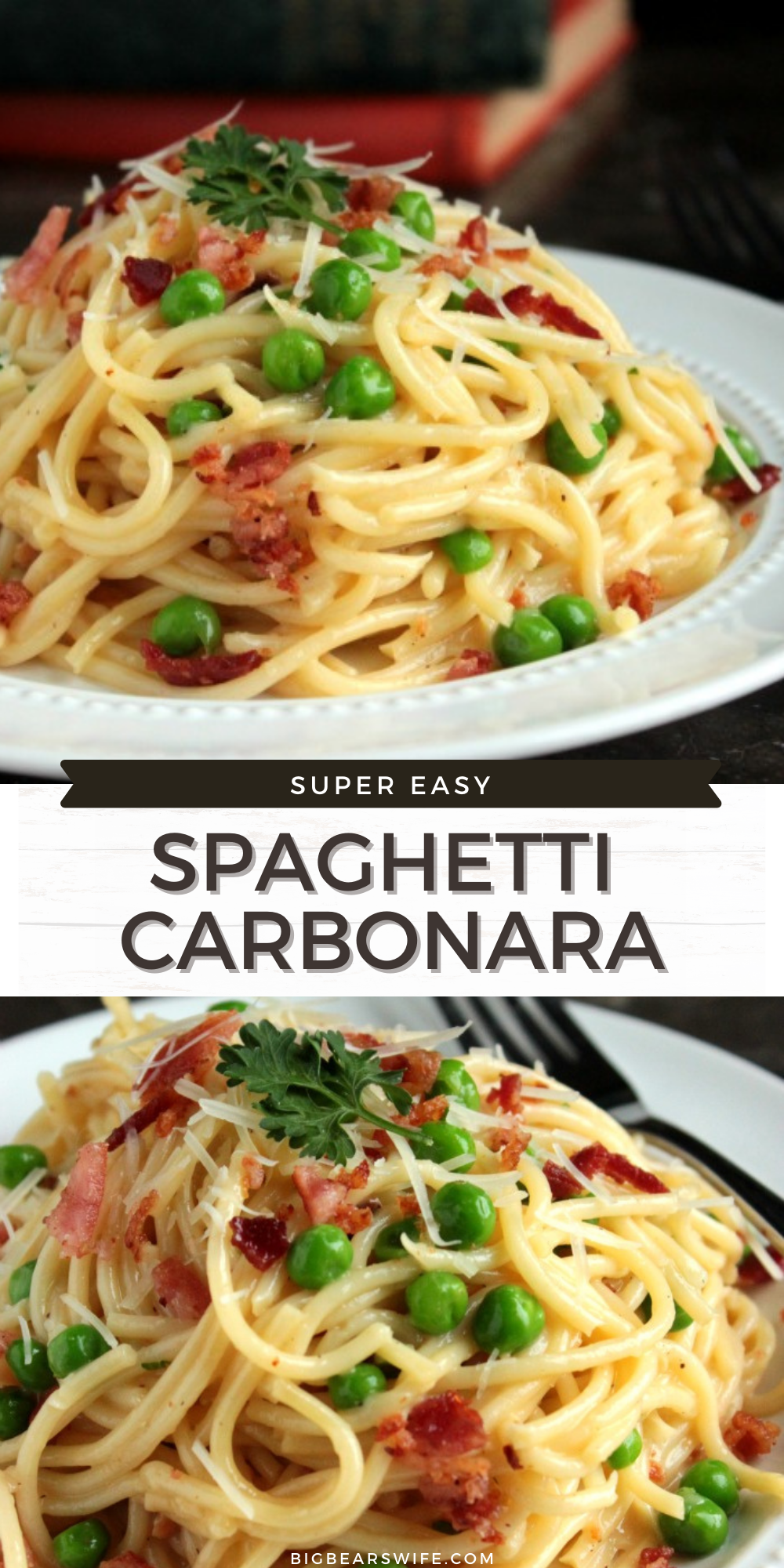 This Spaghetti Carbonara is quick to fix and I haven't met anyone (yet) that doesn't fall in love with it when we make it!