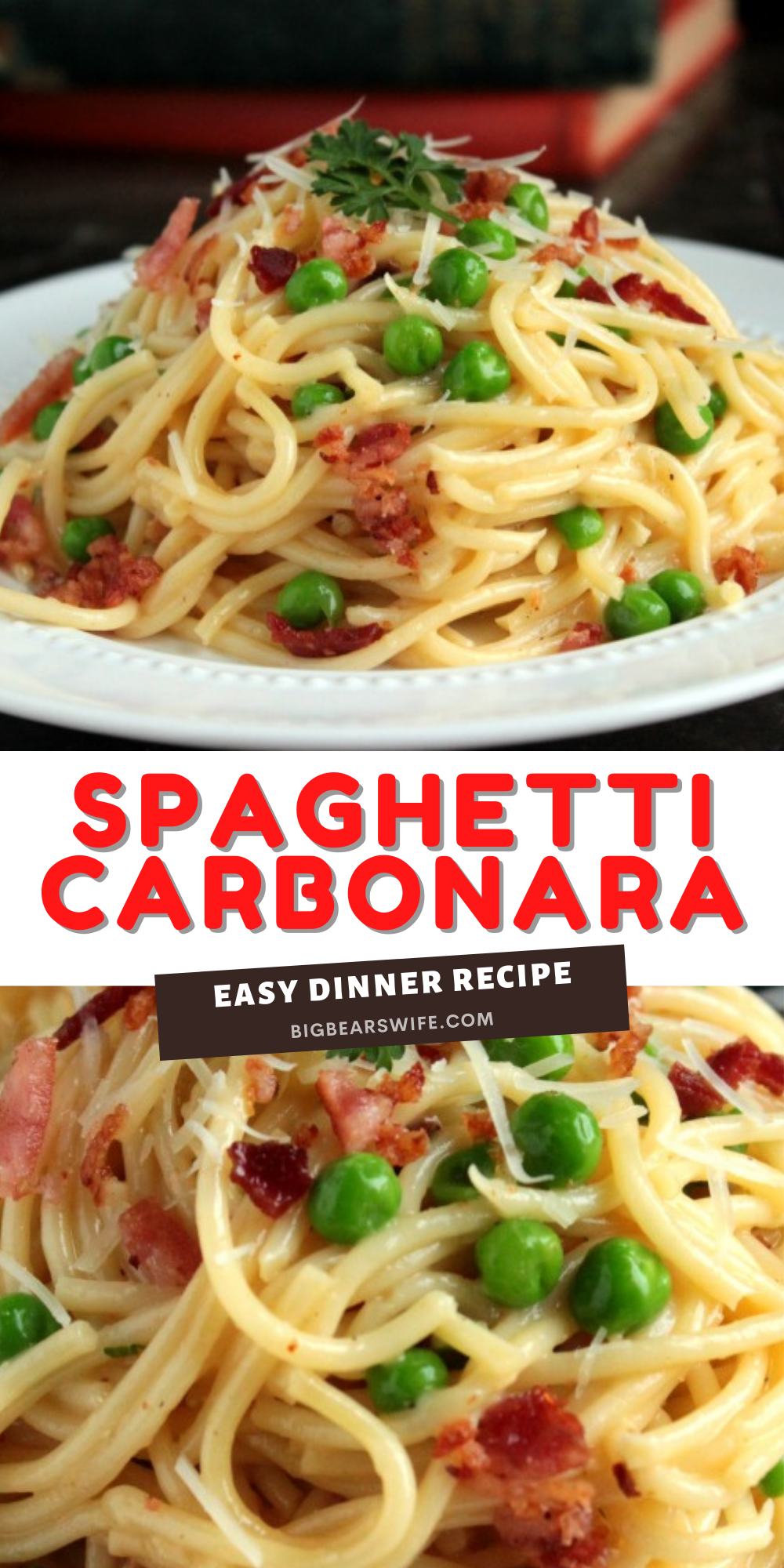 This Spaghetti Carbonara is quick to fix and I haven't met anyone (yet) that doesn't fall in love with it when we make it!   via @bigbearswife