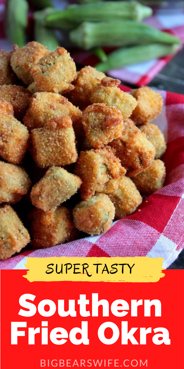 Ifyou're going to splurge on fried food, make sure it's worth it! Serve thisSouthern Fried Okra along side your favorite burger, brisket or fried chicken! via @bigbearswife