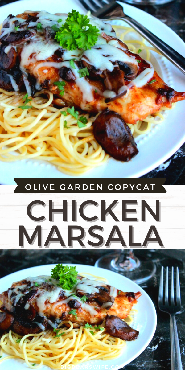 An Easy Chicken Marsala that we consider to be The Best Chicken Marsala (that we've made!) It's just like the Chicken Marsala that you get at the restaurants.