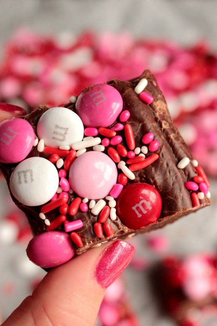 Valentines Day M&M Fudge (1)