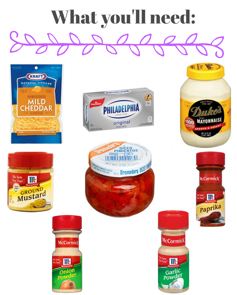 What You'll Need for Pimento Cheese - Homemade Pimento Cheese - Every good southern woman should have a homemade Pimento Cheese recipe in her back pocket! With the recipe from my grandmother's recipe box and a few tests in the kitchen, I made some of the best we've ever had!