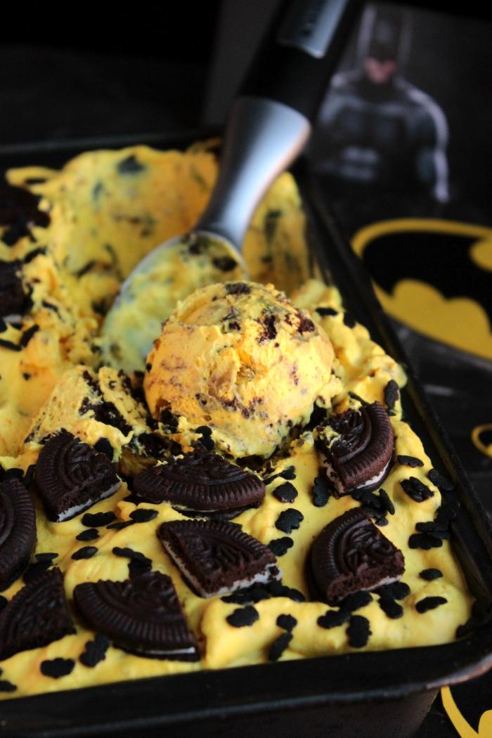 Batman Ice Cream - No Ice Cream Machine Needed!!
