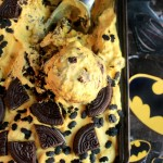 Batman Ice Cream – Banana and Chocolate Cookie Ice Cream {No Ice Cream Machine Needed} #‎BatmanvsSuperman‬