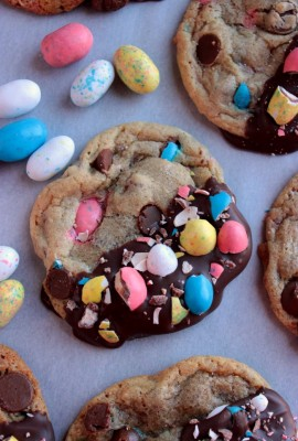 Chocolate Dipped Robin Egg Cookies