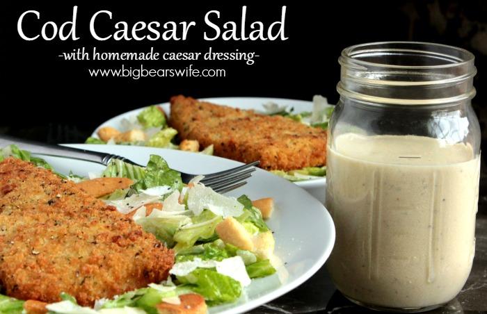 Cod Caesar Salad