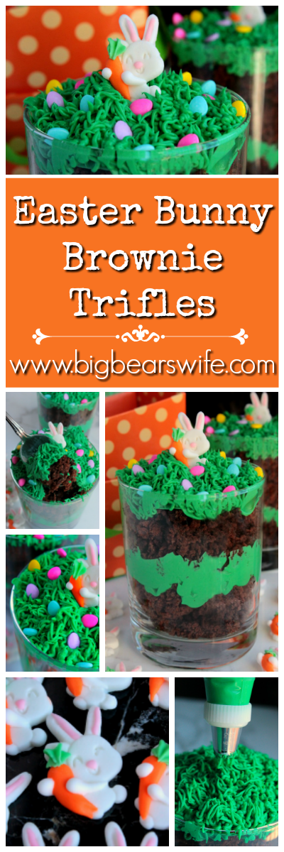 Easter Bunny Brownie Collage