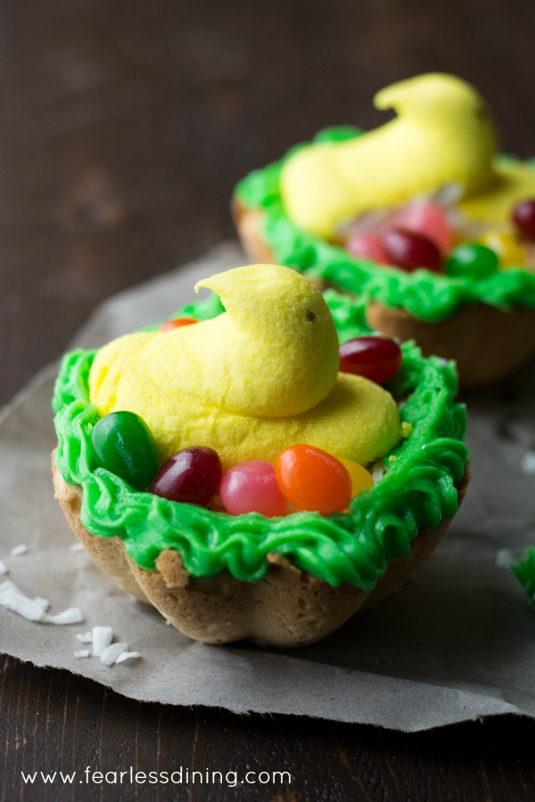 Gluten Free Lemon Cookie Nests found at http://www.fearlessdining.com