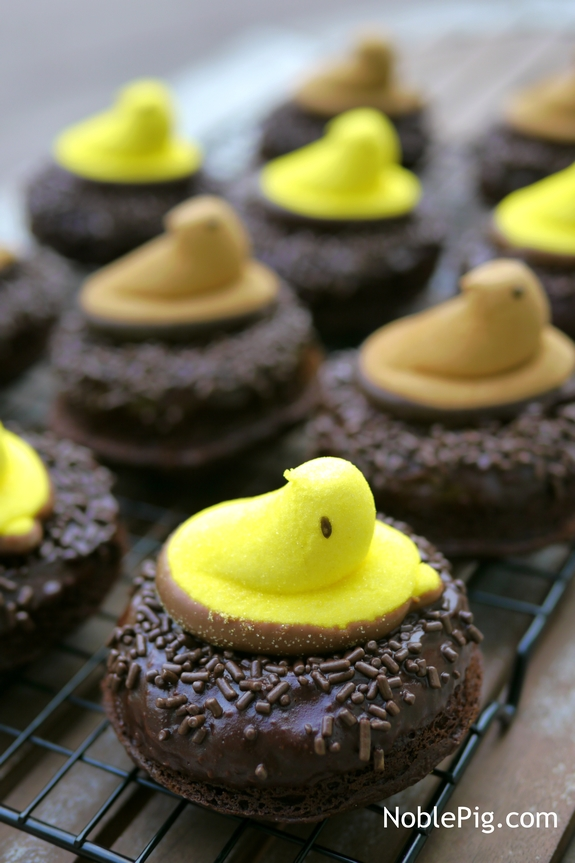 Peeps Chocolate Donut Nests from Noble Pig