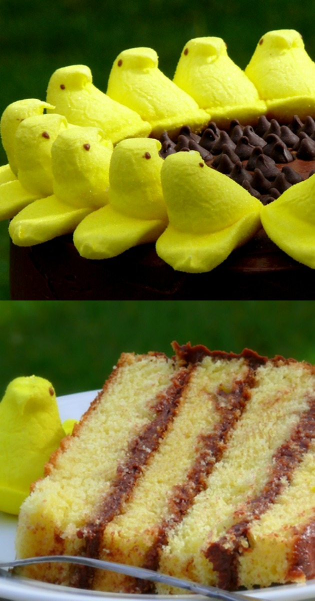 Peeps Sunflower Layer Cake