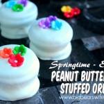 Springtime Easter Peanut Butter Cup Stuffed Oreos - Reese Stuffed Oreos
