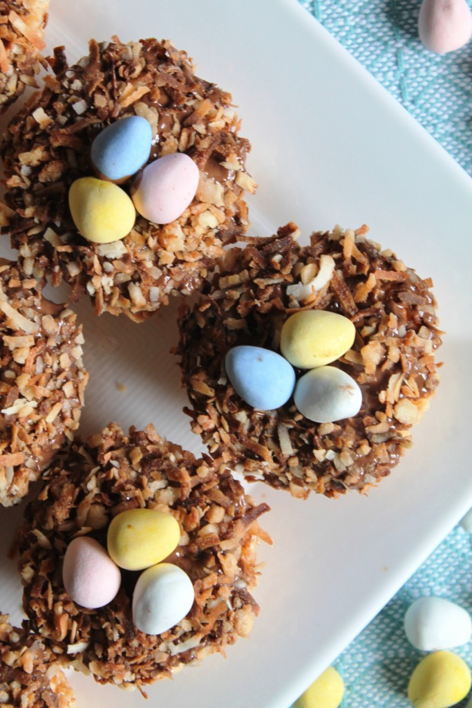Toasted Coconut Bird's Nest Krispies Treats - The Spiffy Cookie