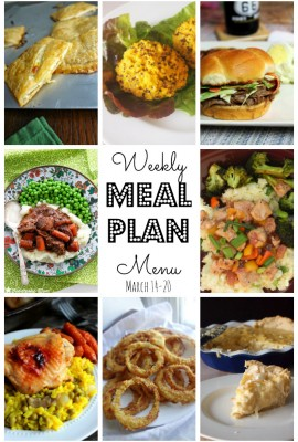 Your Weekly Meal Plan – March 14th – March 20th
