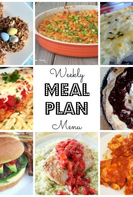 Weekly Meal Plan for March 21st – March 27th
