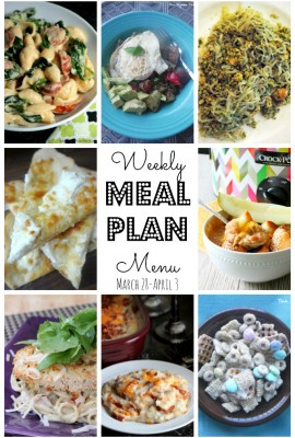 Weekly Meal Plan – March 28th – April 3rd