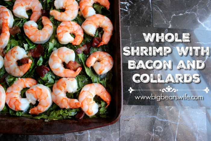 Whole Shrimp with Bacon and Collards (12)