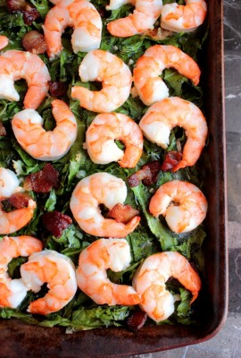 Whole Shrimp with Bacon and Collards (16)