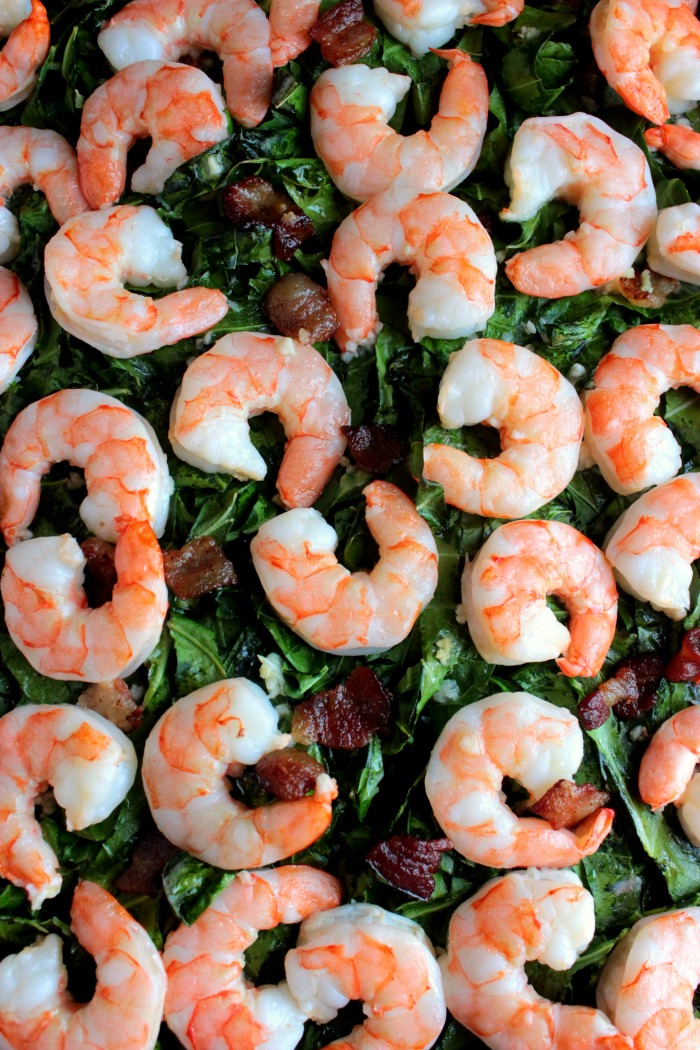 Whole Shrimp with Bacon and Collards (9)