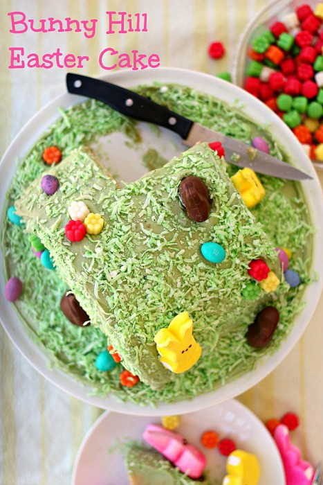 bunny hill Easter cake 8 words