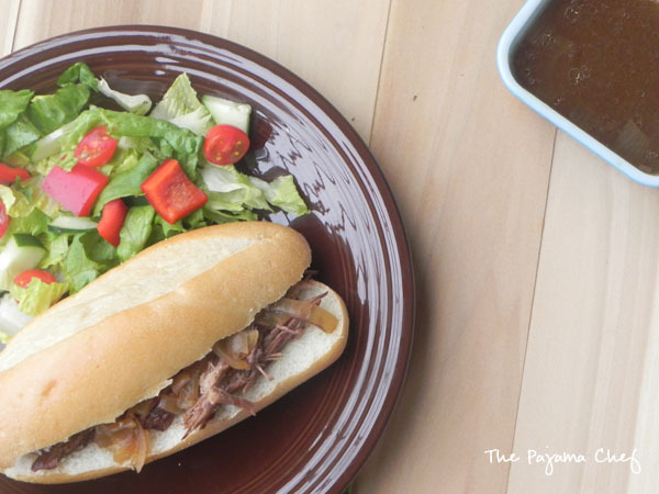 Easy Crockpot French Dip Sandwiches - The Pajama Chef