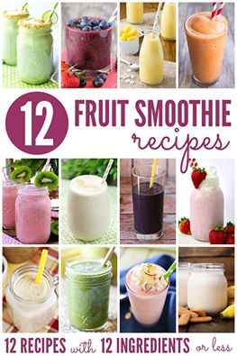 12 fruit smoothies