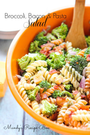 Broccoli Bacon Pasta Salad {Mandy's Recipe Box}