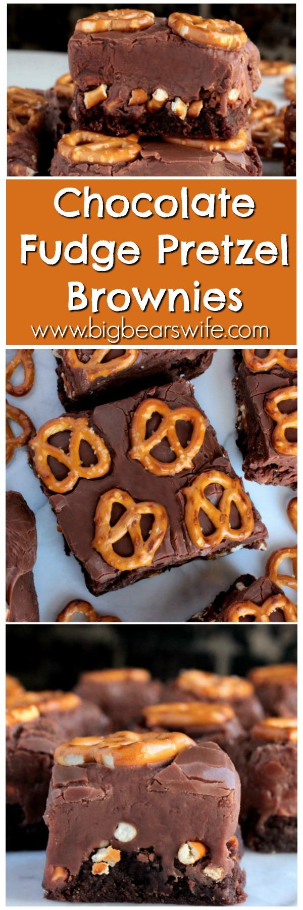 Chocolate Fudge Pretzel Brownies