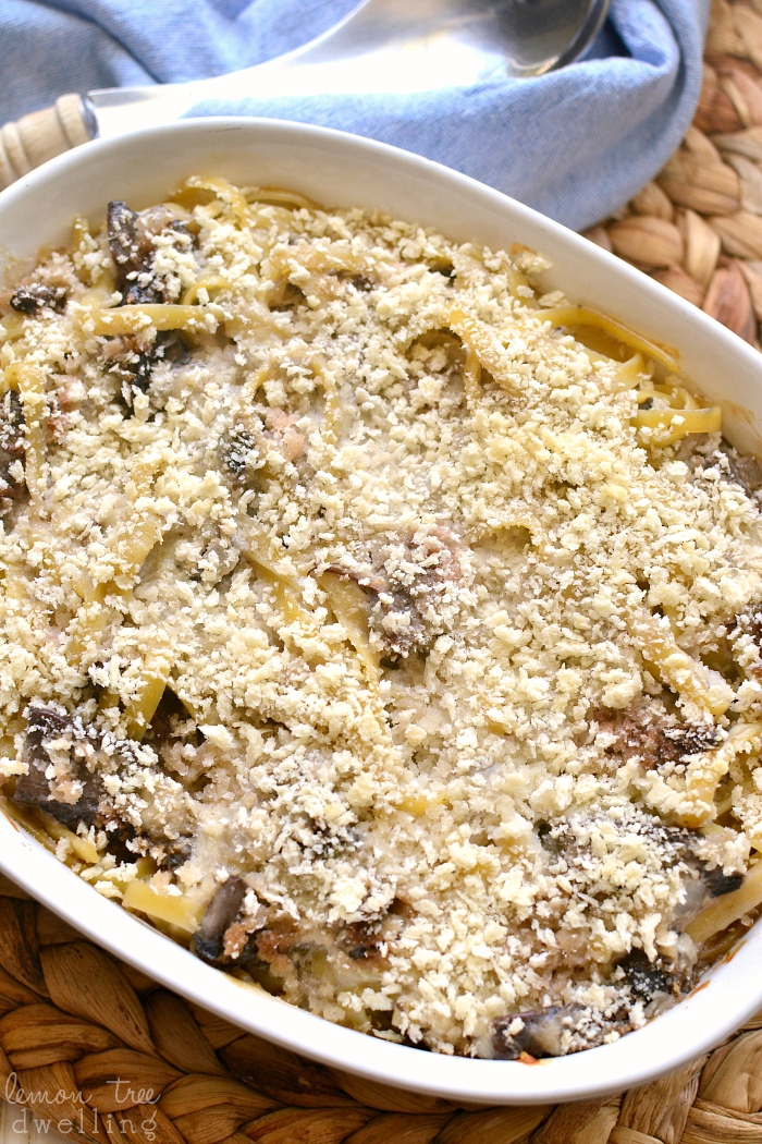 Baked Portobello Mushroom Alfredo comes together quickly for an easy and delicious weeknight meal that everyone will love!