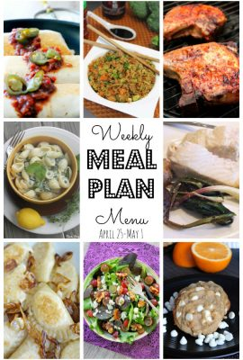 Meal Plan for April 24th – May 1st