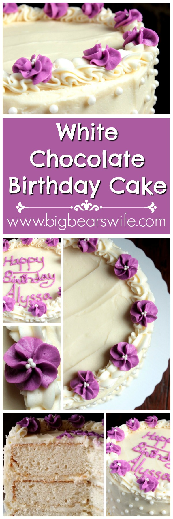 White Chocolate Birthday Cake