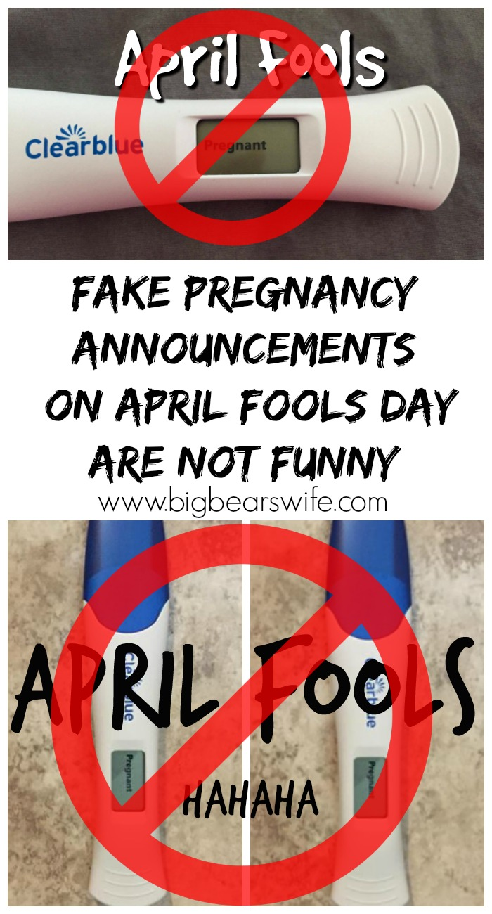 Fake Pregnancy Announcements on April Fools Day are NOT Funny