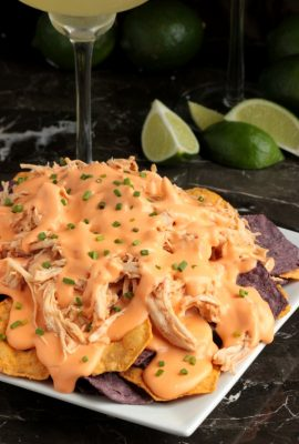 Beer Cheese Chicken Nachos