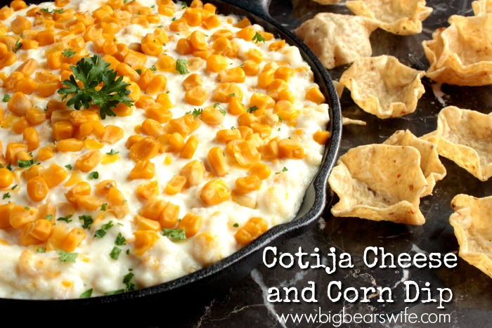 Cotija Cheese and Corn Dip