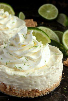 Mini Key Lime Pie Cheesecakes