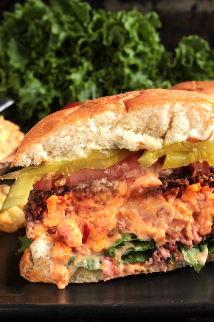 Pimento Cheese Stuffed Burger