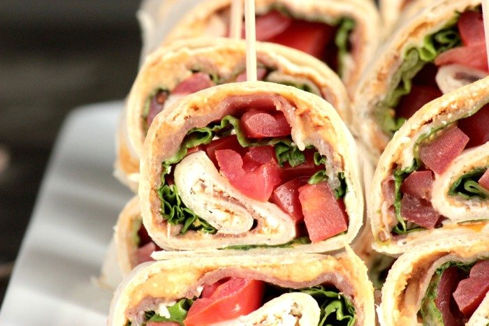 Tuscan Herb Hummus, Prosciutto and Goat Cheese Pinwheels (1)