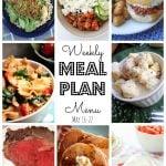 Weekly Meal Plan May 16th – May 22nd