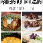 Weekly Meal Plan May 23 – May 29