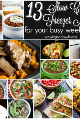 13 Slow Cooker Freezer Meals for your busy weekdays!