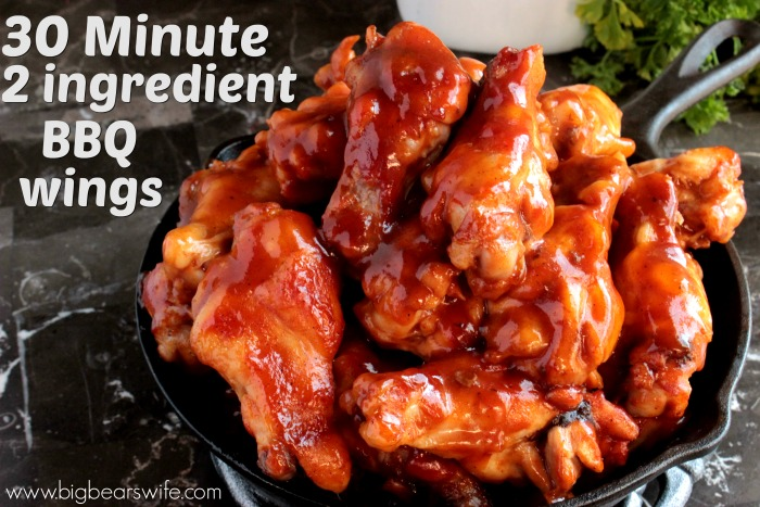 30 Minute 2 Ingredient BBQ Wings (2)