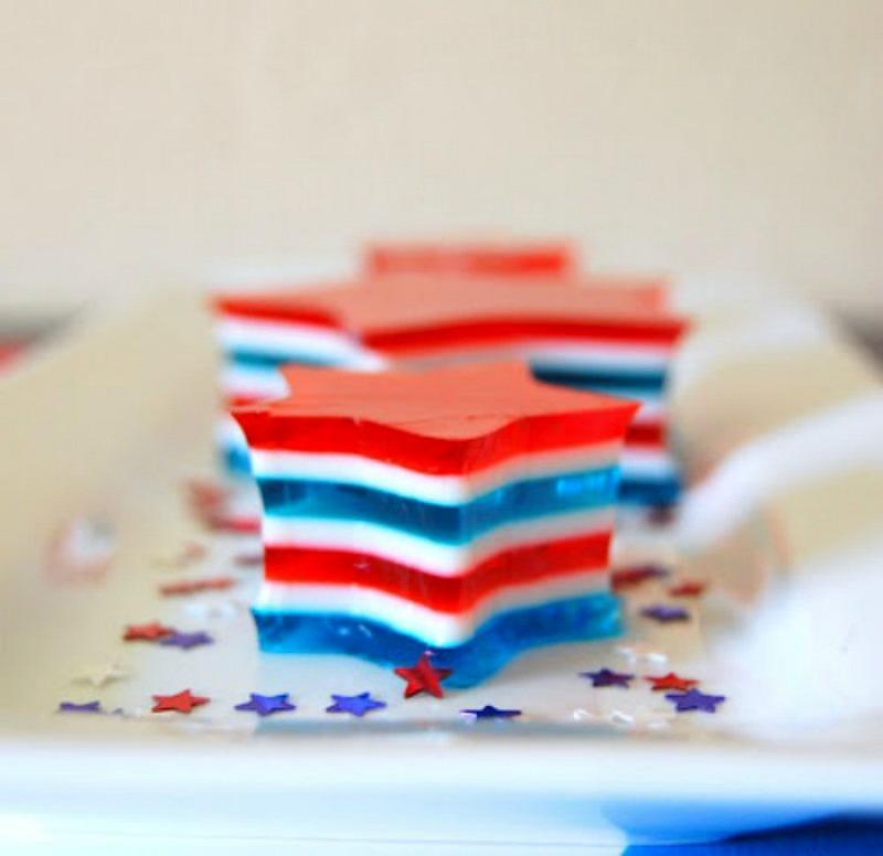 Patriotic Jello-O Stars {365 Days of Baking}