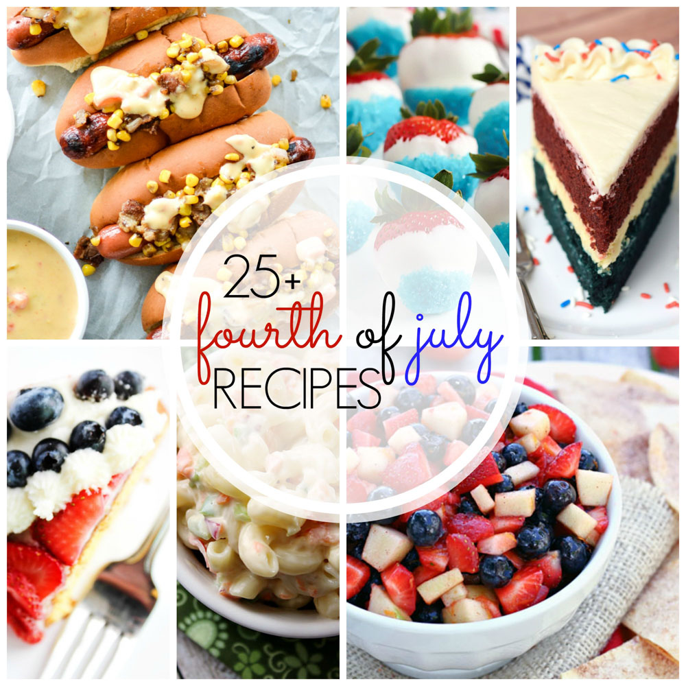 Red, White & Blue Cheesecake Mousse, Festive Fruit Salsa, 4th Of July Fireworks Cake Roll and MORE -- here are 25+ Fourth of July recipes!