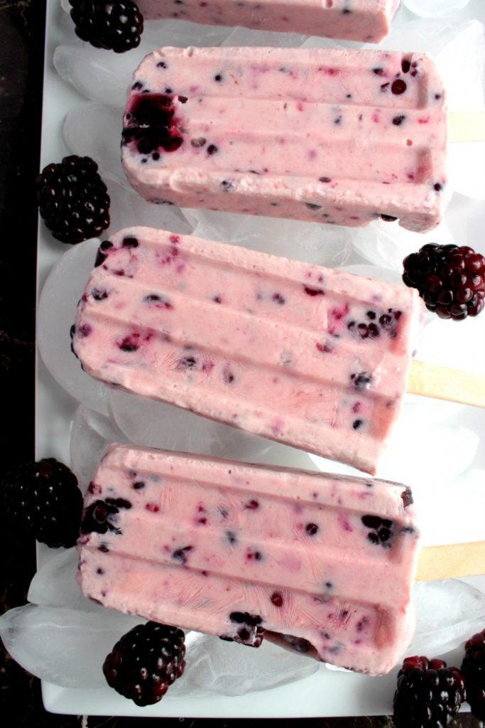 Blackberry Yogurt Popsicle