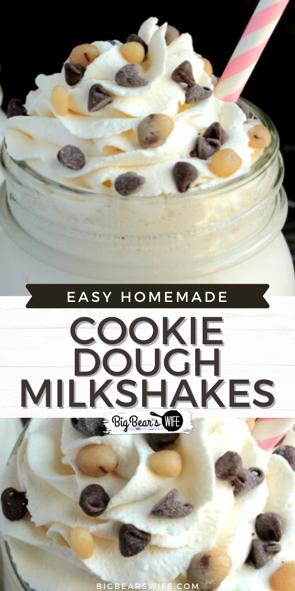 Cookie Dough Milkshakes - Ready to make your very Cookie Dough Milkshakes at home? You'll be in Cookie Dough heaven when you whip up one of these in your own kitchen!