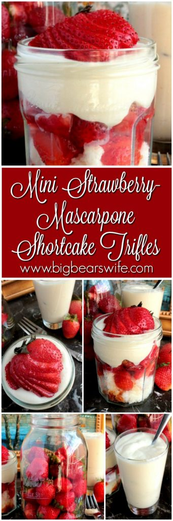 Mini Strawberry-Mascarpone Shortcake Trifle
