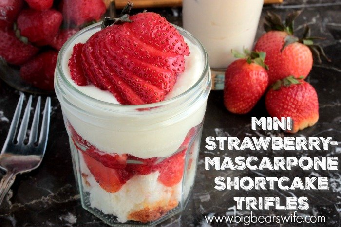 Mini Strawberry-Mascarpone Shortcake Trifles