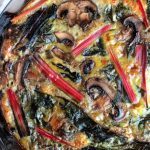 Rainbow Chard and Mushroom Quiche